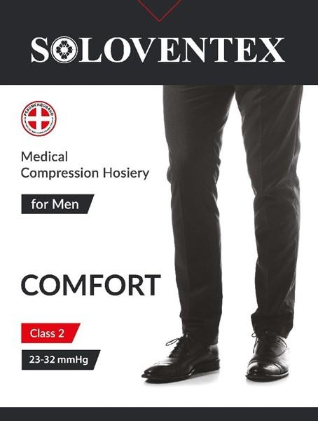 ХЛОПОК Мужской компрессионный моночулок Soloventex Comfort 2 класс компрессии открытый носок