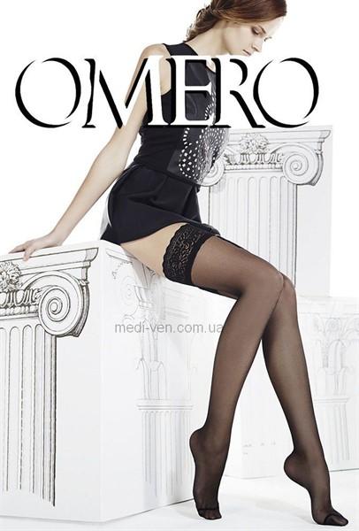Женские прозрачные чулки Omero Efira 15 den с кружевной резинкой
