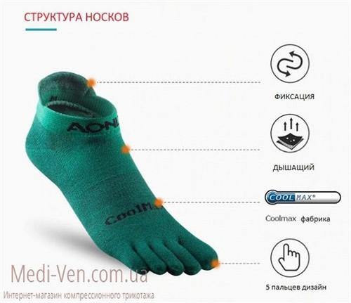Компрессионные спортивные носки для бега CoolMax AONIJIE закрытый носок ДЛЯ ЖЕНЩИН И МУЖЧИН - фото 18053