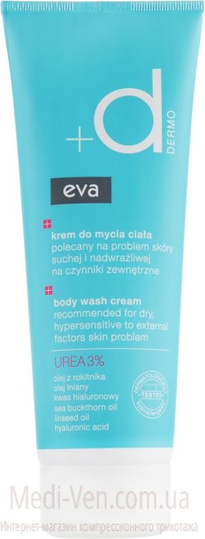 Крем для душа Eva Dermo Body Wash Cream 250 ml (Польша)